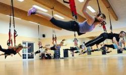Una sessione di Bungee workout