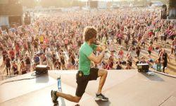 Joe Wicks sul palco di Hyde Park