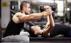Personal Trainer con cliente