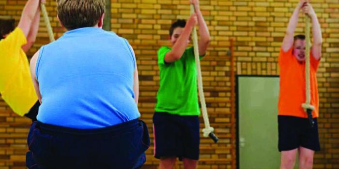 Bambino in sovrappeso