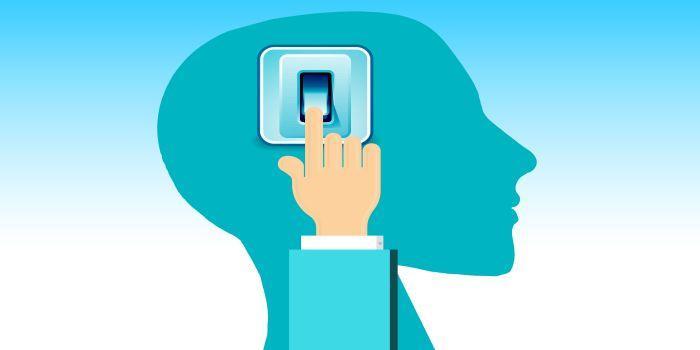 Cervello con interruttore