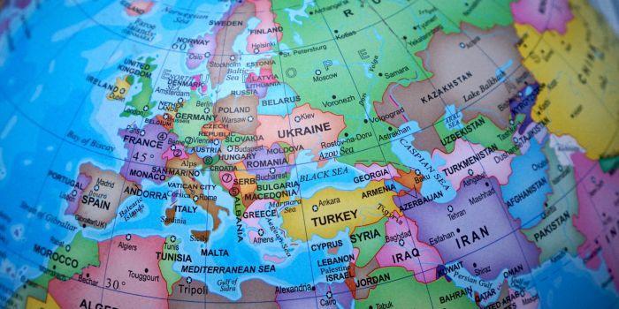 Mappamondo Europa