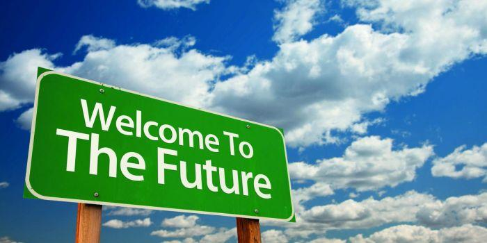 Cartello Welcome to the future