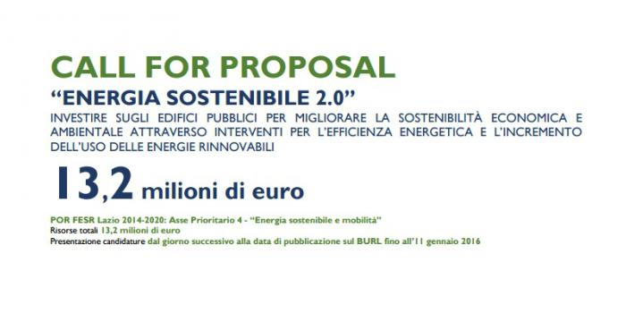 "Call for Proposal ""Energia Sostenibile 2.0"""
