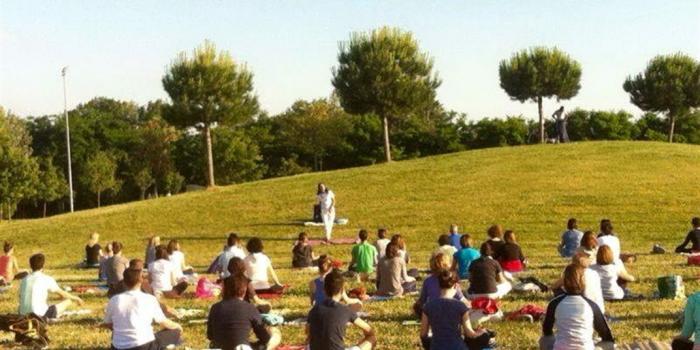 allenamento nel parco