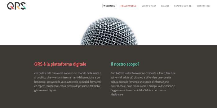 Sito QRS - Qui Radio Salute