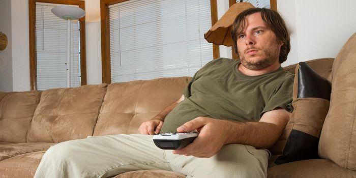 Sedentario sul divano