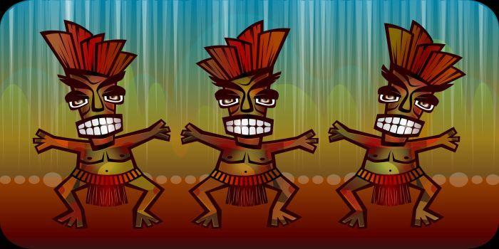 Disegno danza tribale