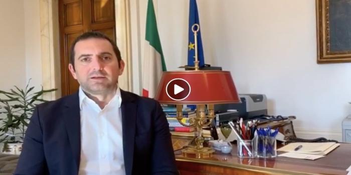 Il video del ministro Spadafora