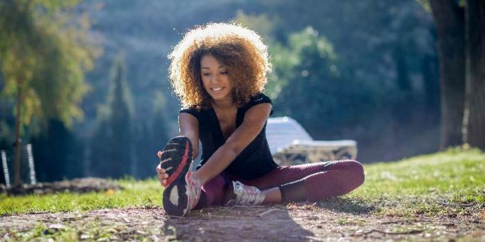 Foto l'attività fisica rende positivi